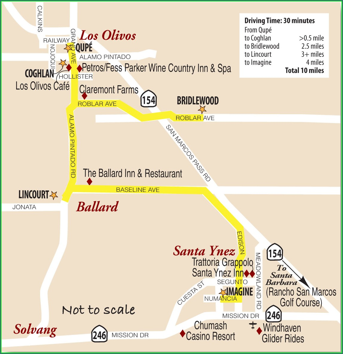 Santa Ynez Valley Wineries Map