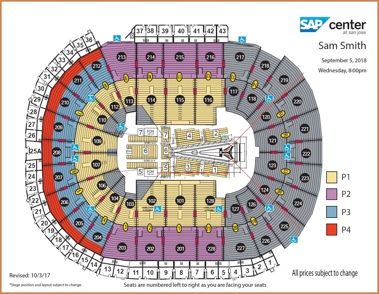Sap Arena Seat Map