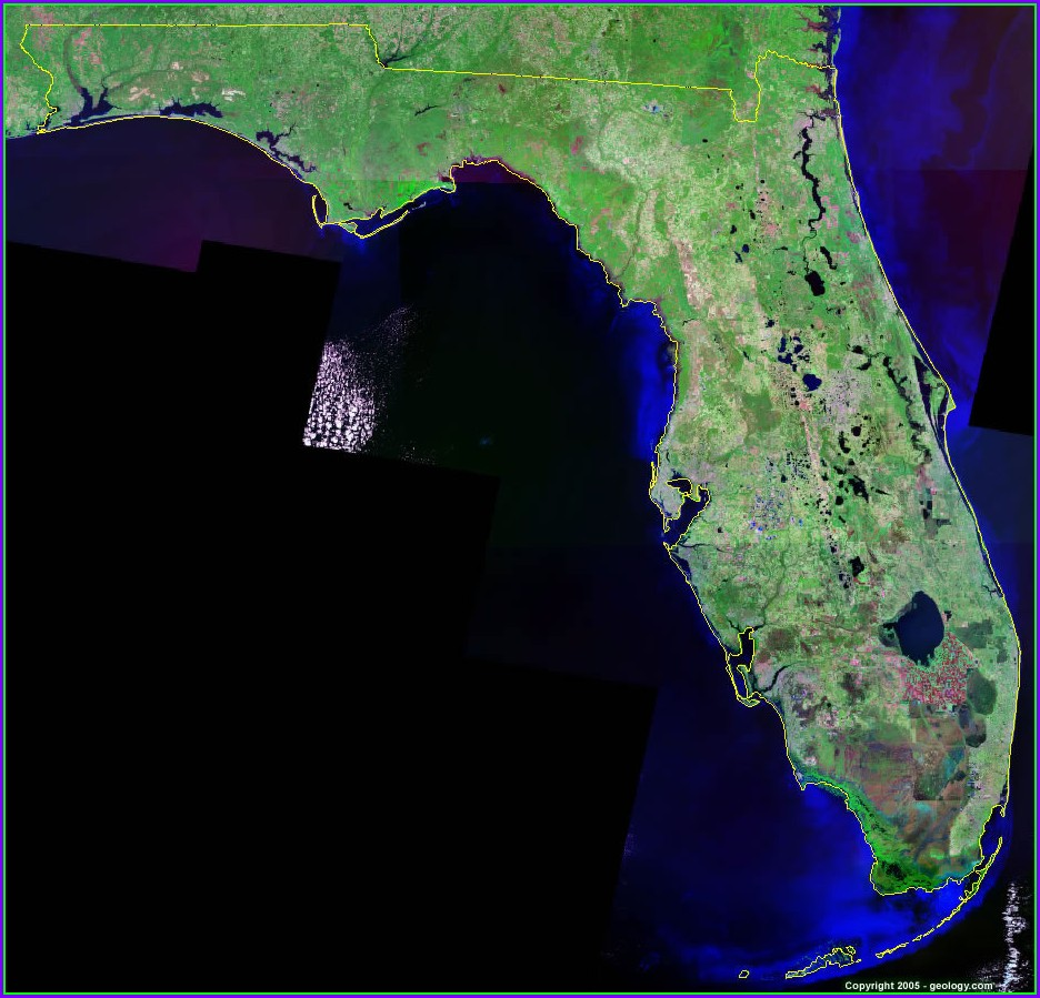 Satellite Map Of Florida Keys