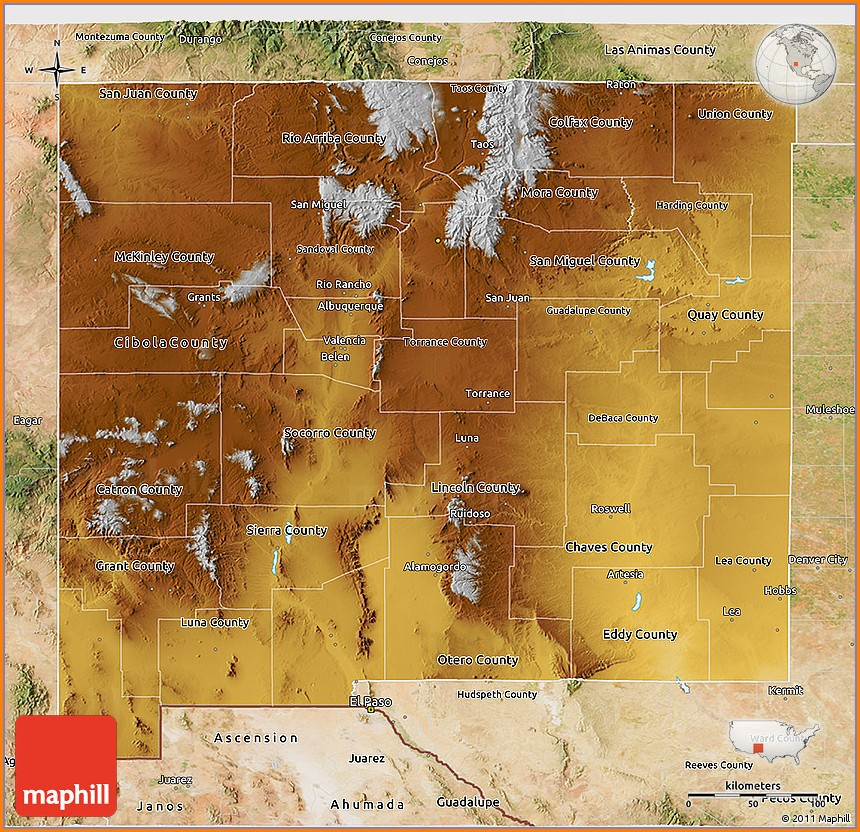 Satellite Map Of New Mexico