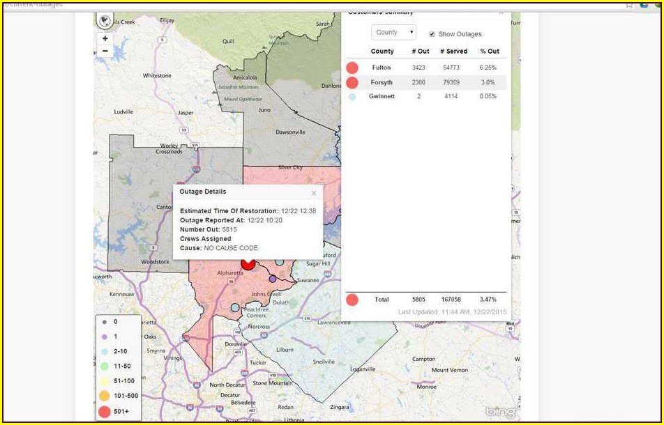 Sawnee Emc Outage Map