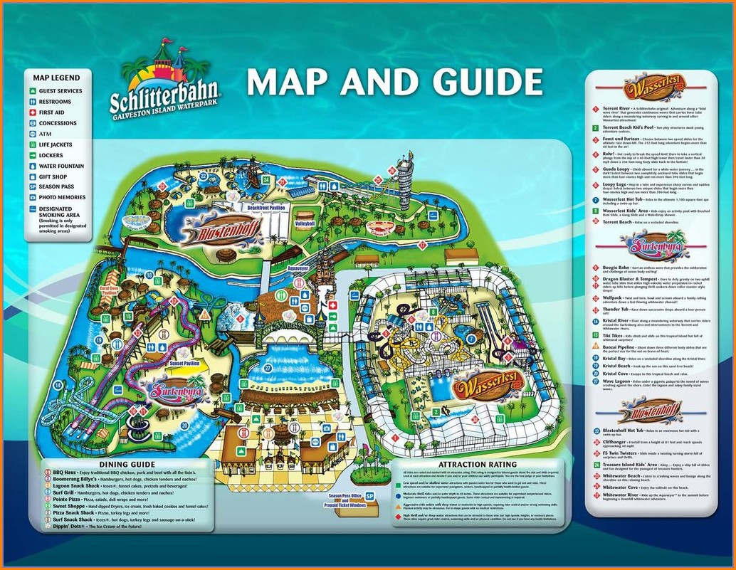 Schlitterbahn Galveston Indoor Map