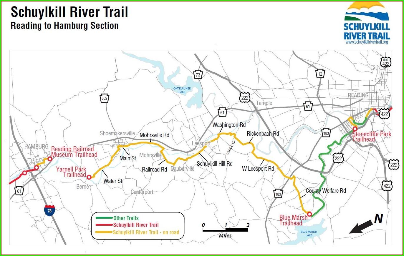 Schuylkill River Trail Map Pdf