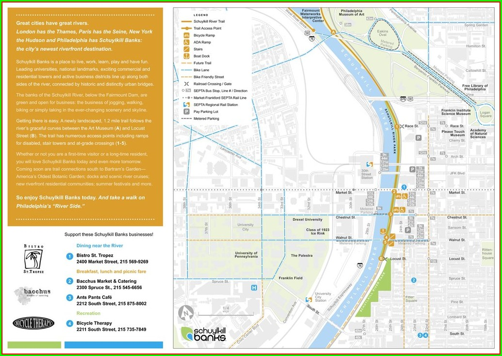 Schuylkill River Trail Map