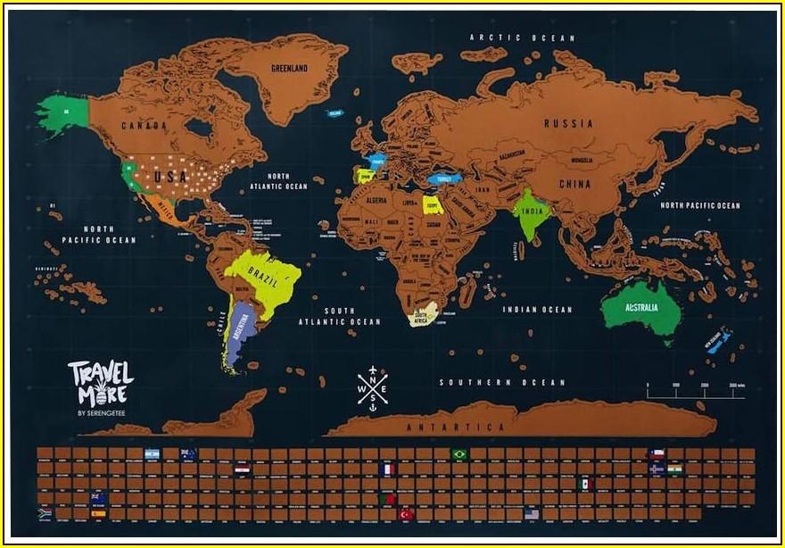 Scratch Off Map Serengetee