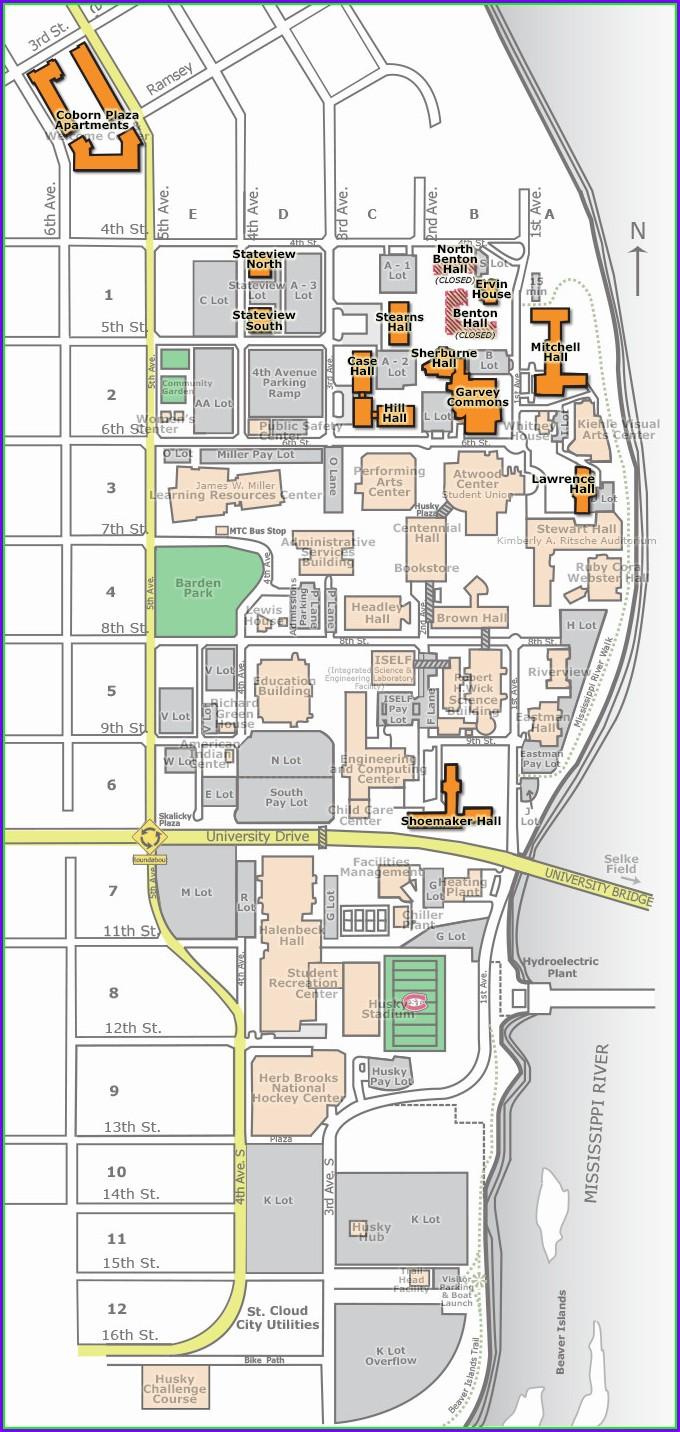 Scsu Campus Map Ct