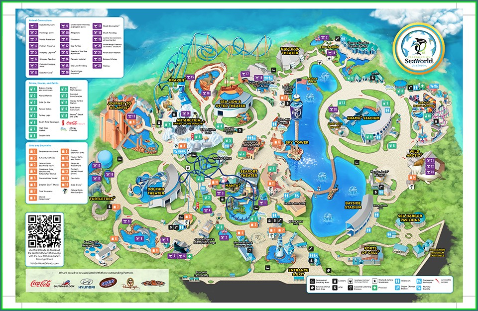 Seaworld Orlando Map Pdf