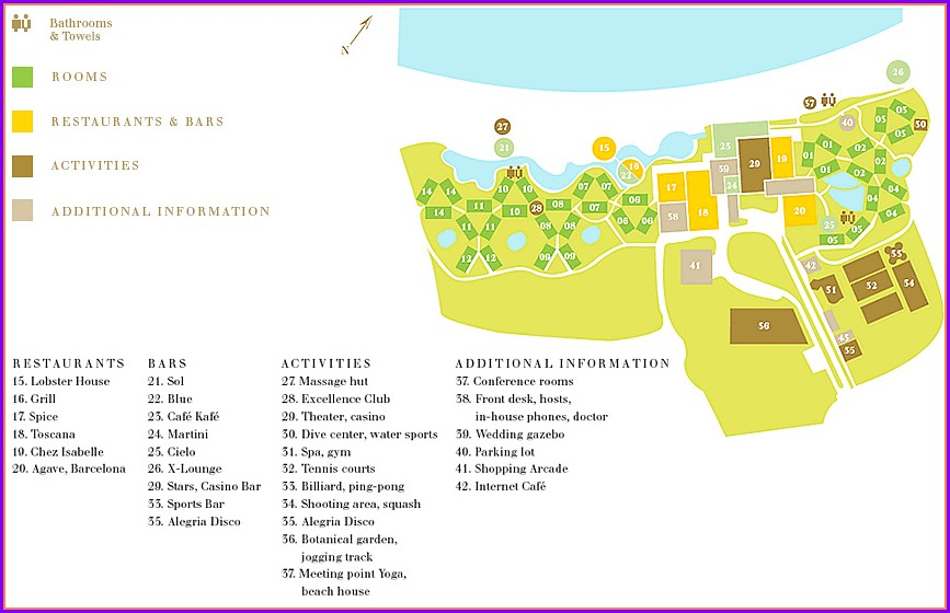 Secrets Cap Cana Resort Map