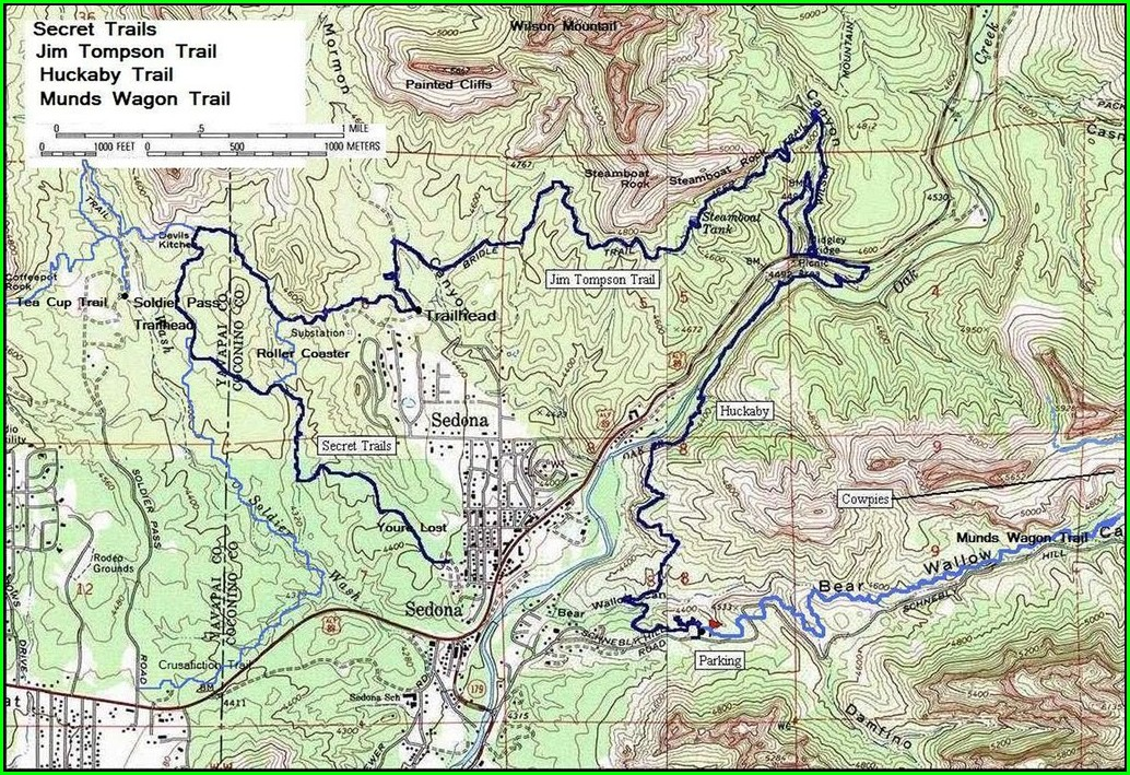 Sedona Bike Trail Map