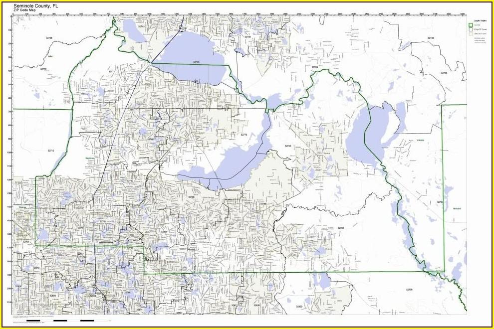 Seminole County Boundary Map