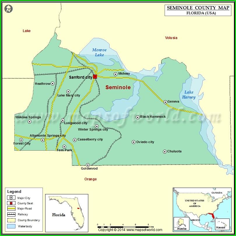 Seminole County Utilities Map