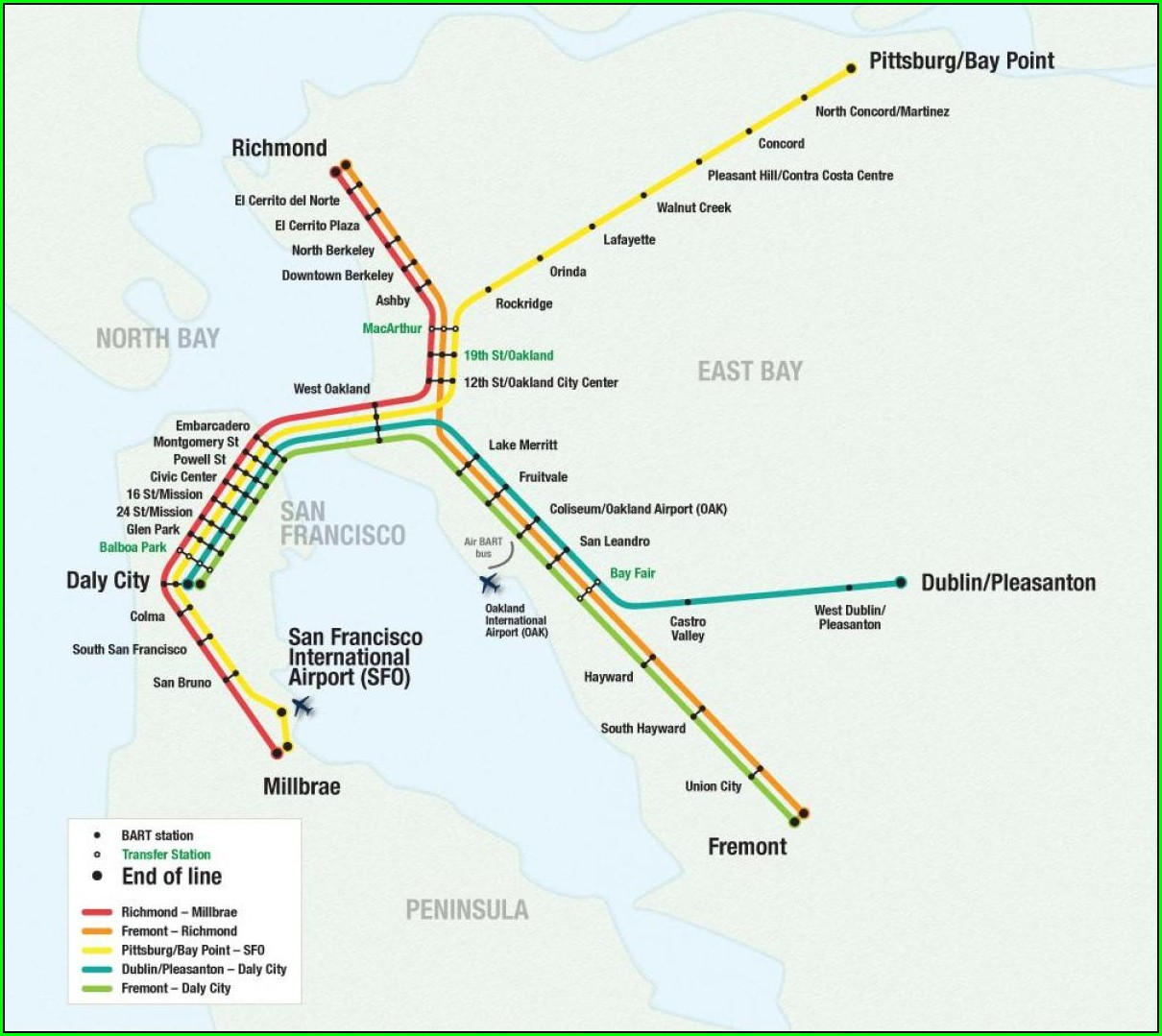 Sfo Airport Bart Map