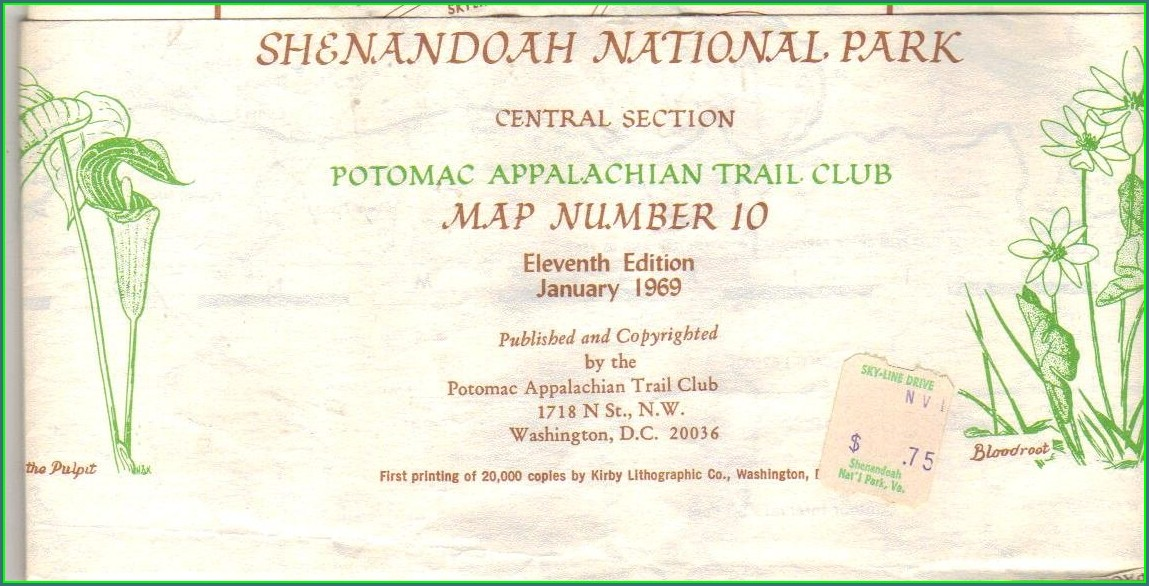 Shenandoah National Park Appalachian Trail Map