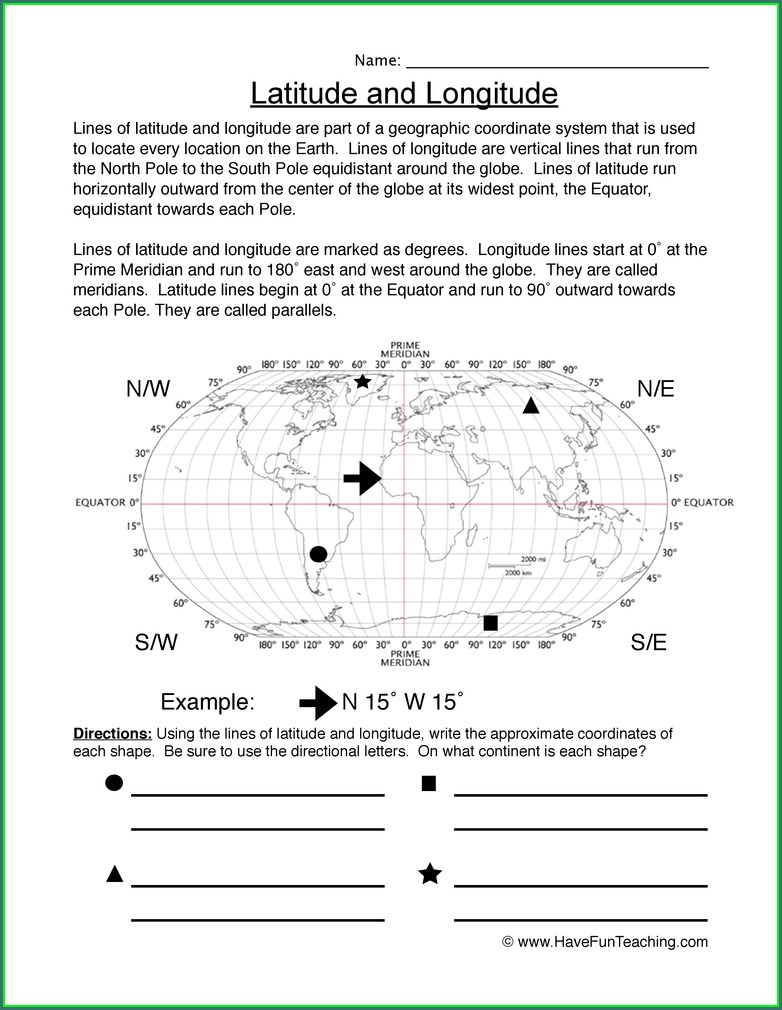 Sixth Grade 6th Grade Map Skills Worksheets