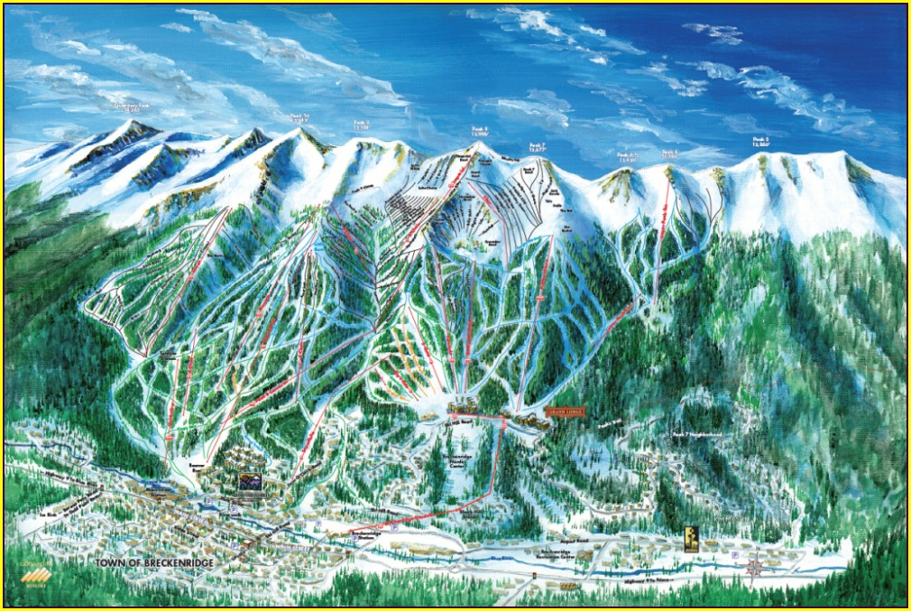 Ski Resort Map Artist