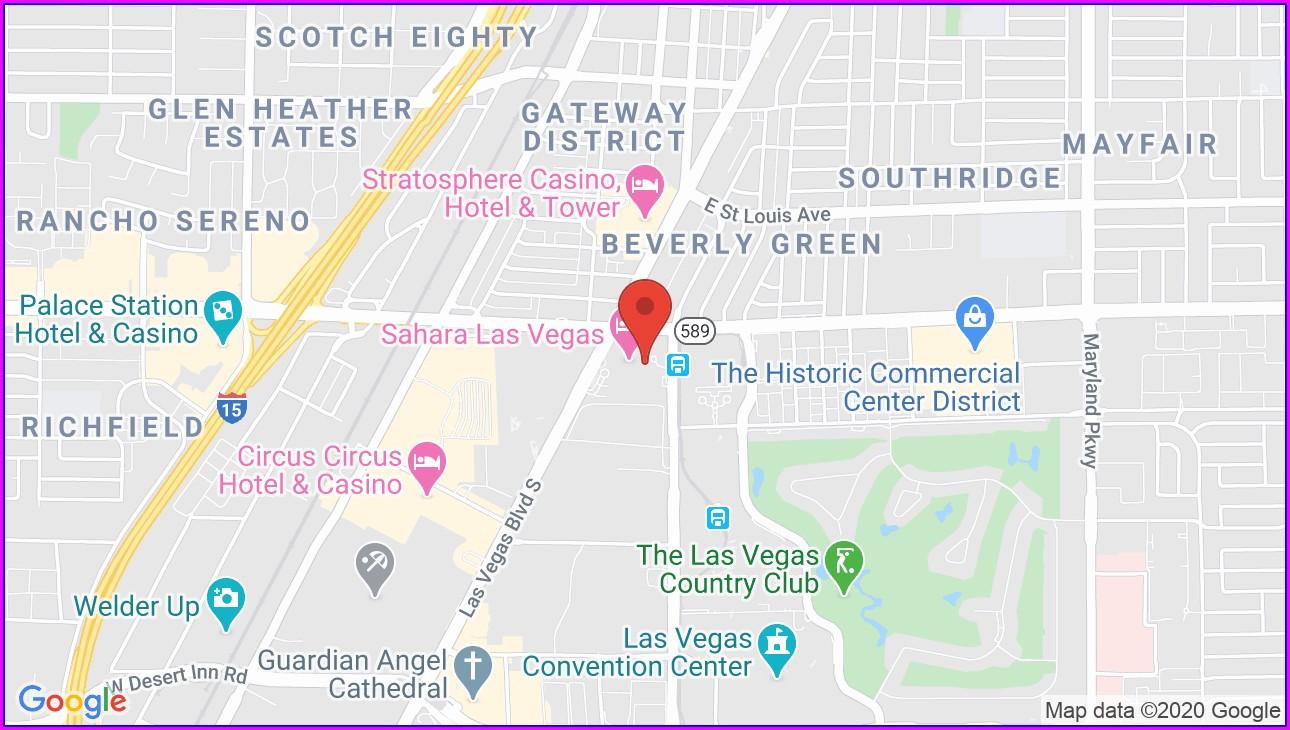 Sls Las Vegas Hotel Map