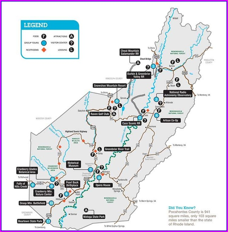 Snowshoe Mountain Resort Map