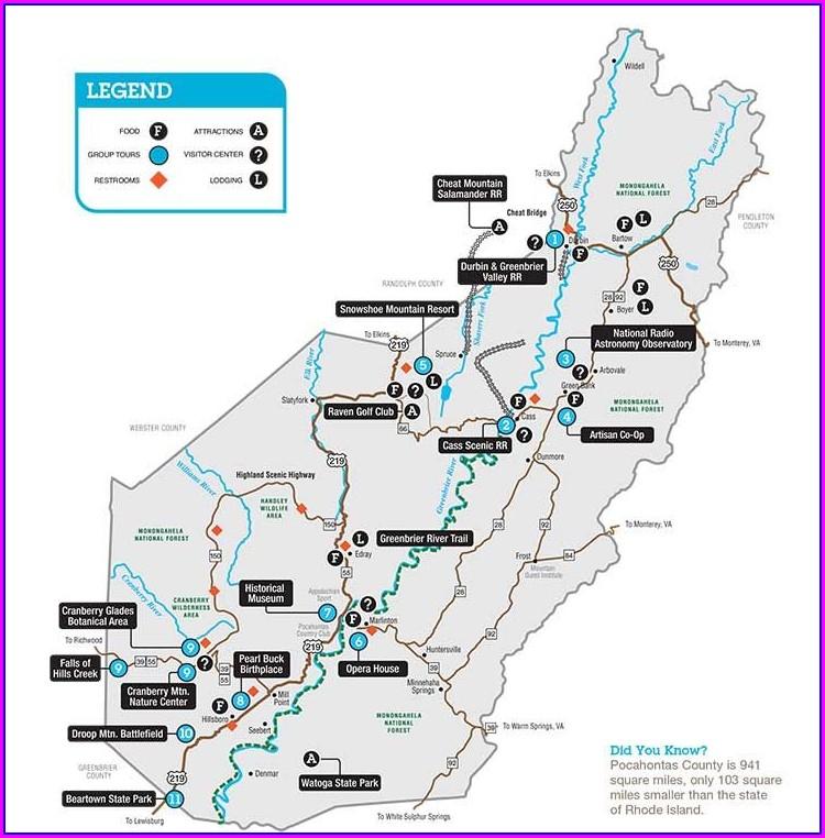 Snowshoe Mountain Resort Map
