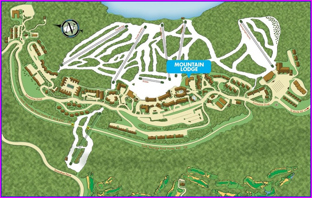 Snowshoe Mountain Village Map