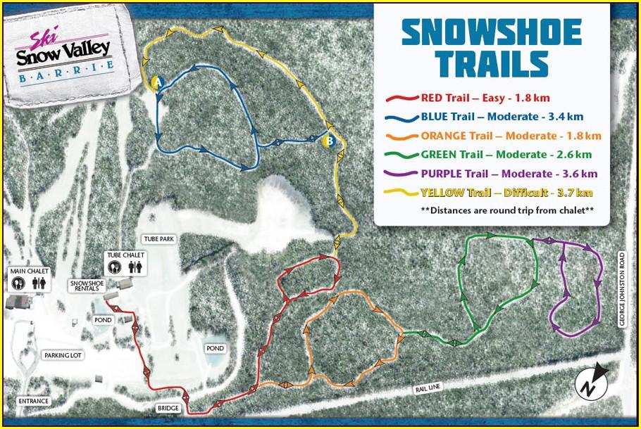 Snowshoe Ski Trail Map