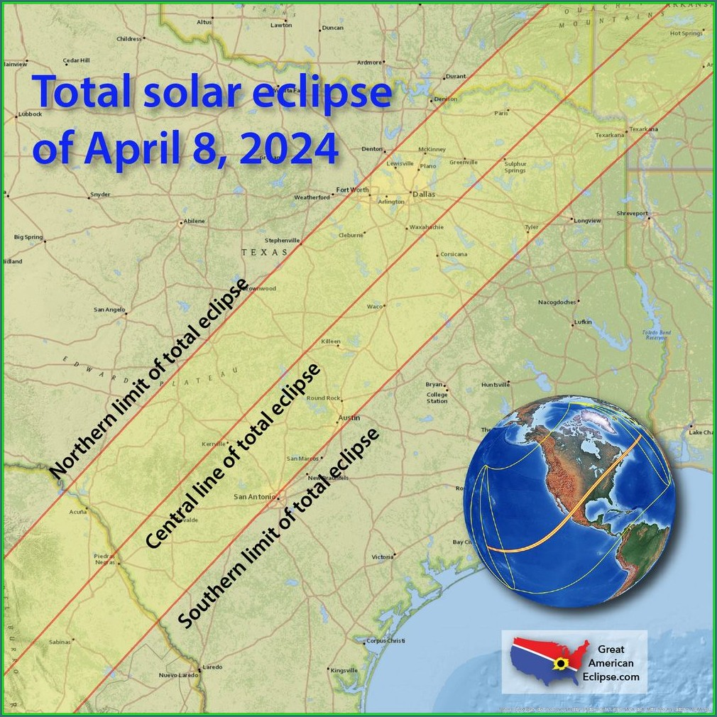 Solar Eclipse 2024 Interactive Map