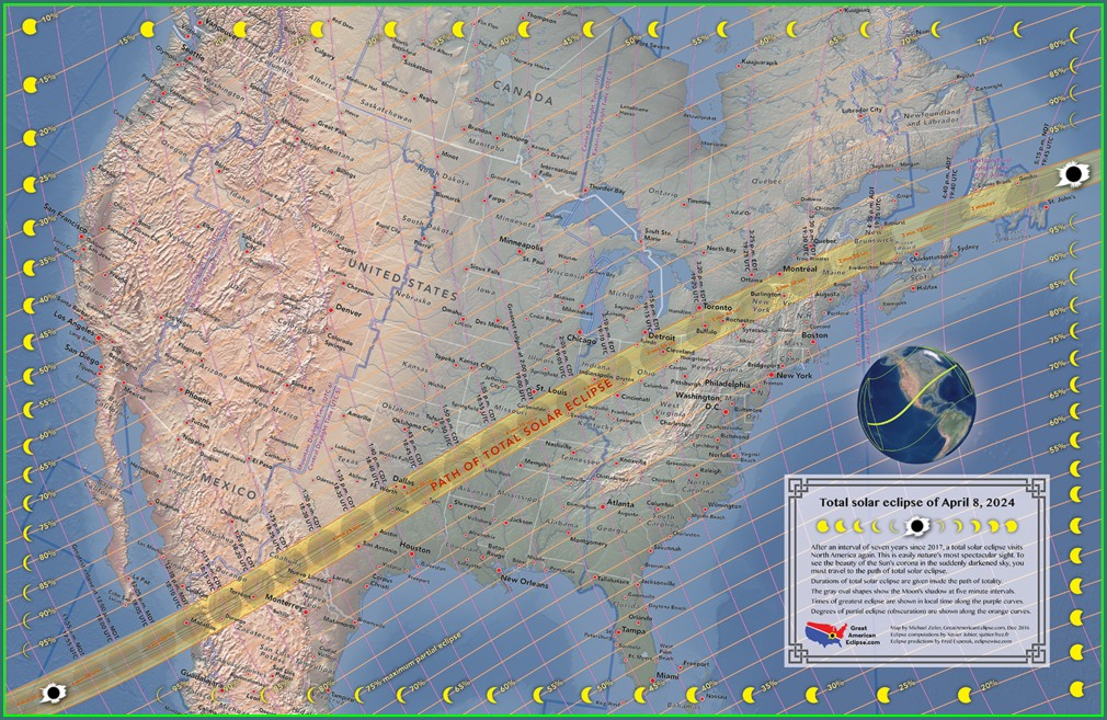 Solar Eclipse 2024 Map