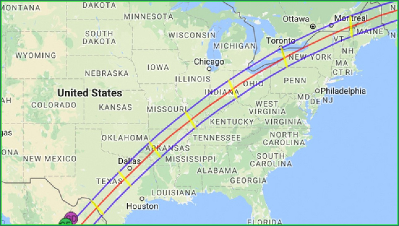 Solar Eclipse 2024 Texas Map