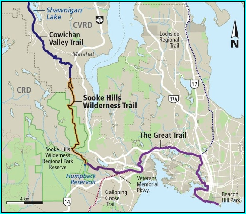 Sooke Hills Galloping Goose Trail Map