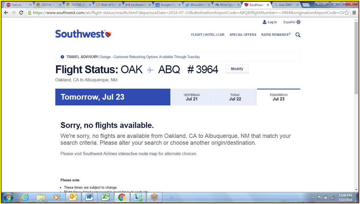 Southwest Airlines Flight Status Map