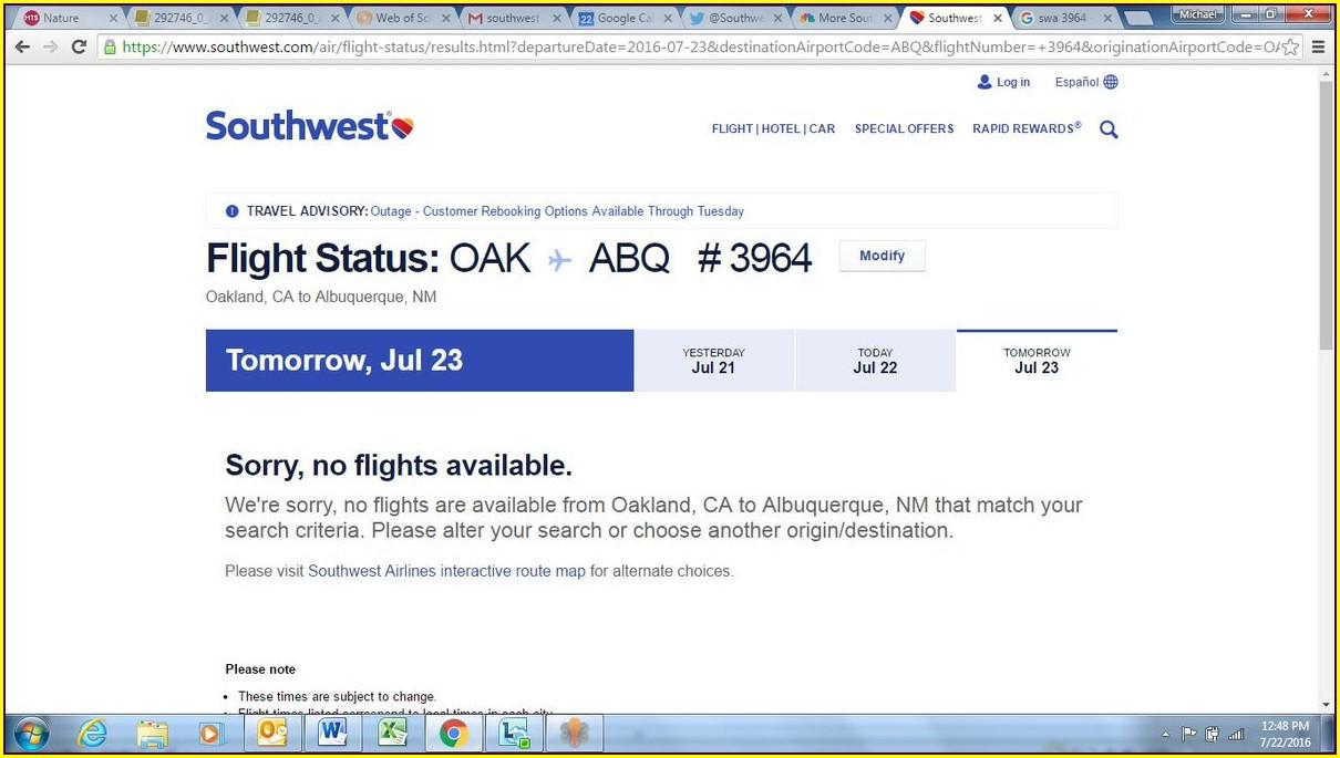 Southwest Airlines Flight Status Map