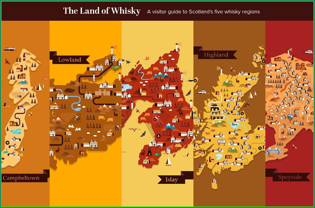Speyside Whisky Distillery Map