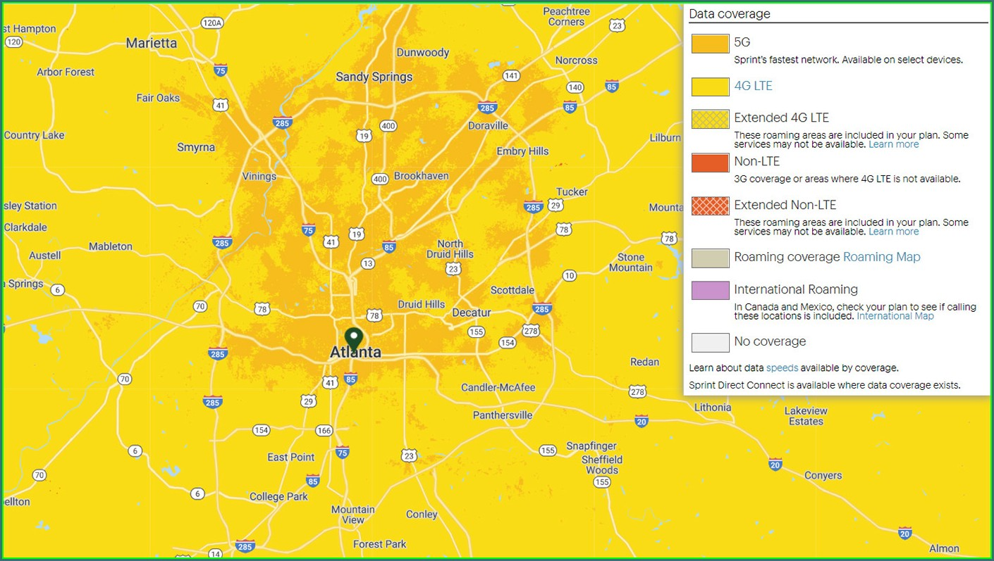 Sprint 5g Coverage Map Phoenix
