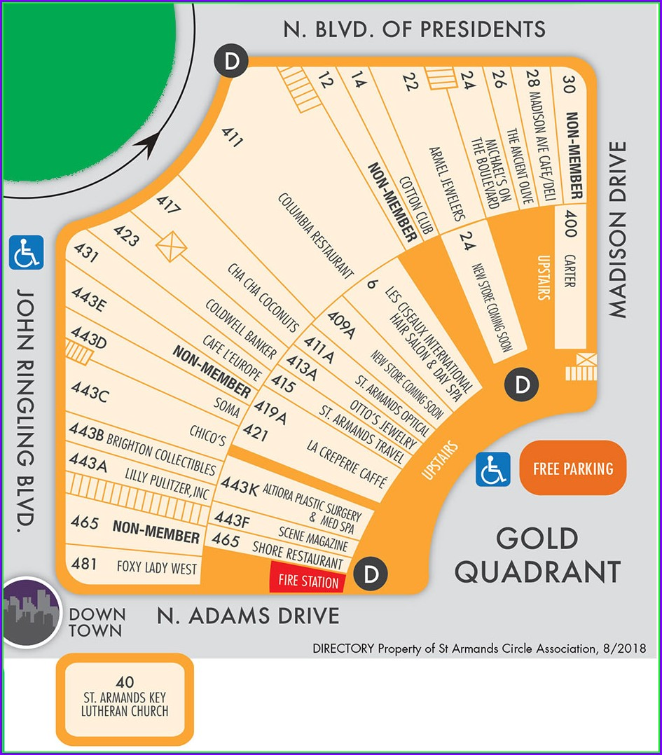 St Armands Circle Map Of Stores