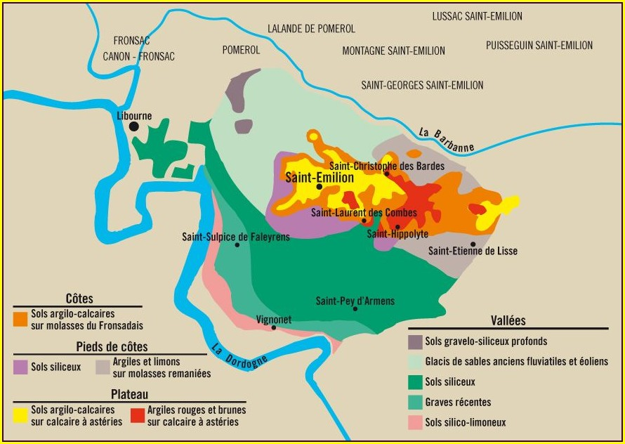 St Emilion Wine Map