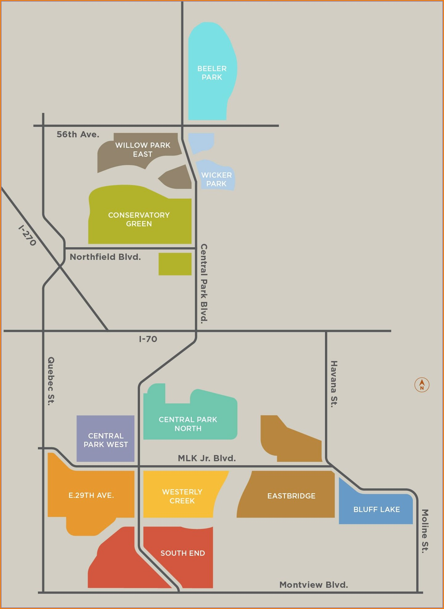 Stapleton Neighborhood Denver Map