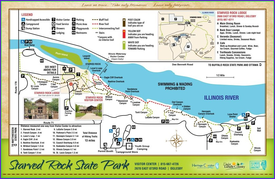 Starved Rock State Park Campground Map