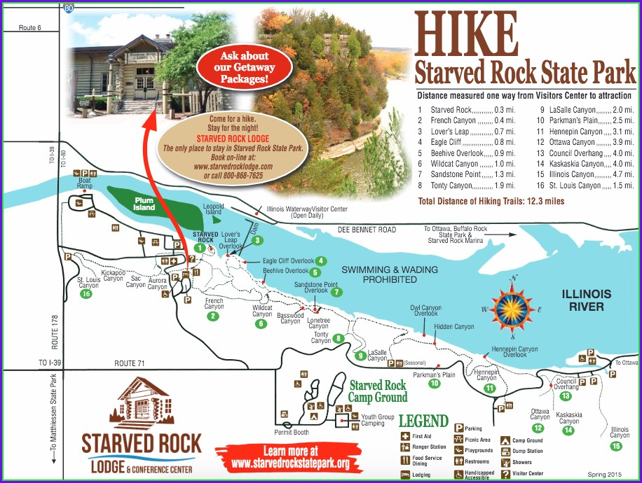 Starved Rock State Park Map Pdf