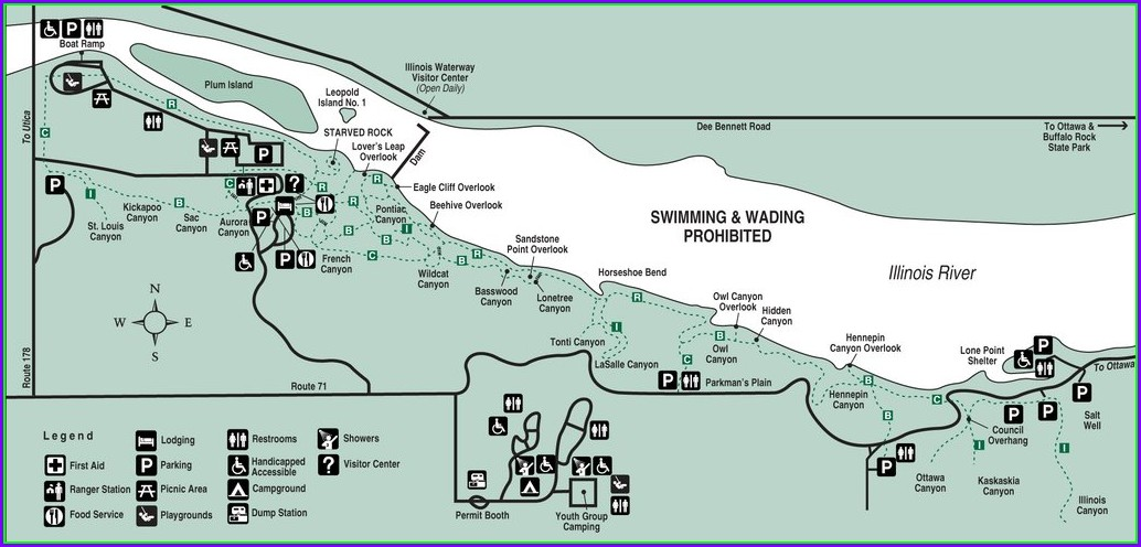 Starved Rock State Park Maps Trails