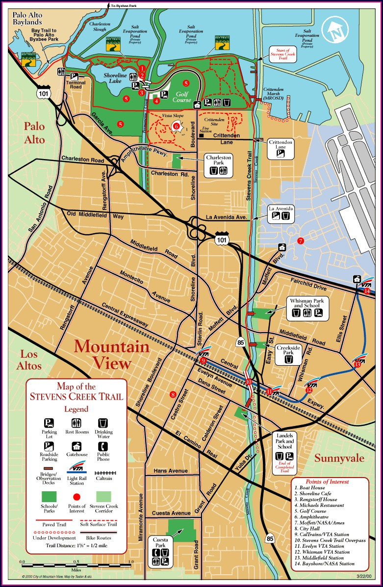 Stevens Creek Trail Map