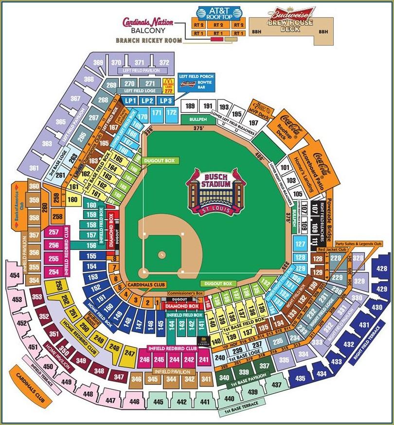 Stl Cardinals Seat Map