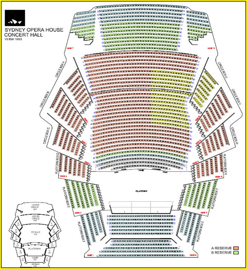 Stoughton Opera House Seat Map