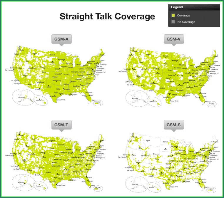Straight Talk Service Area Map