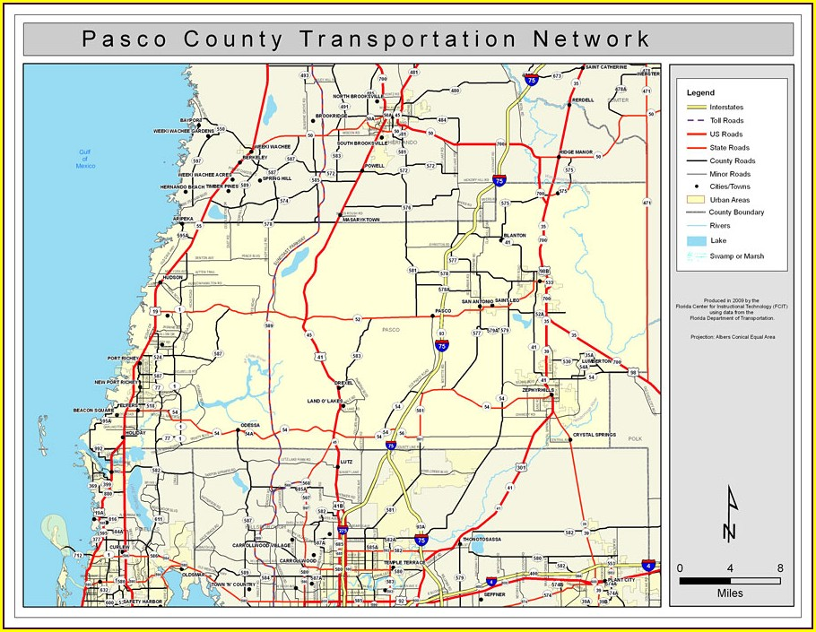 Street Map Of Brooksville Florida