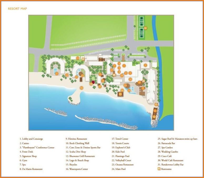 Sunscape Curacao Resort Map