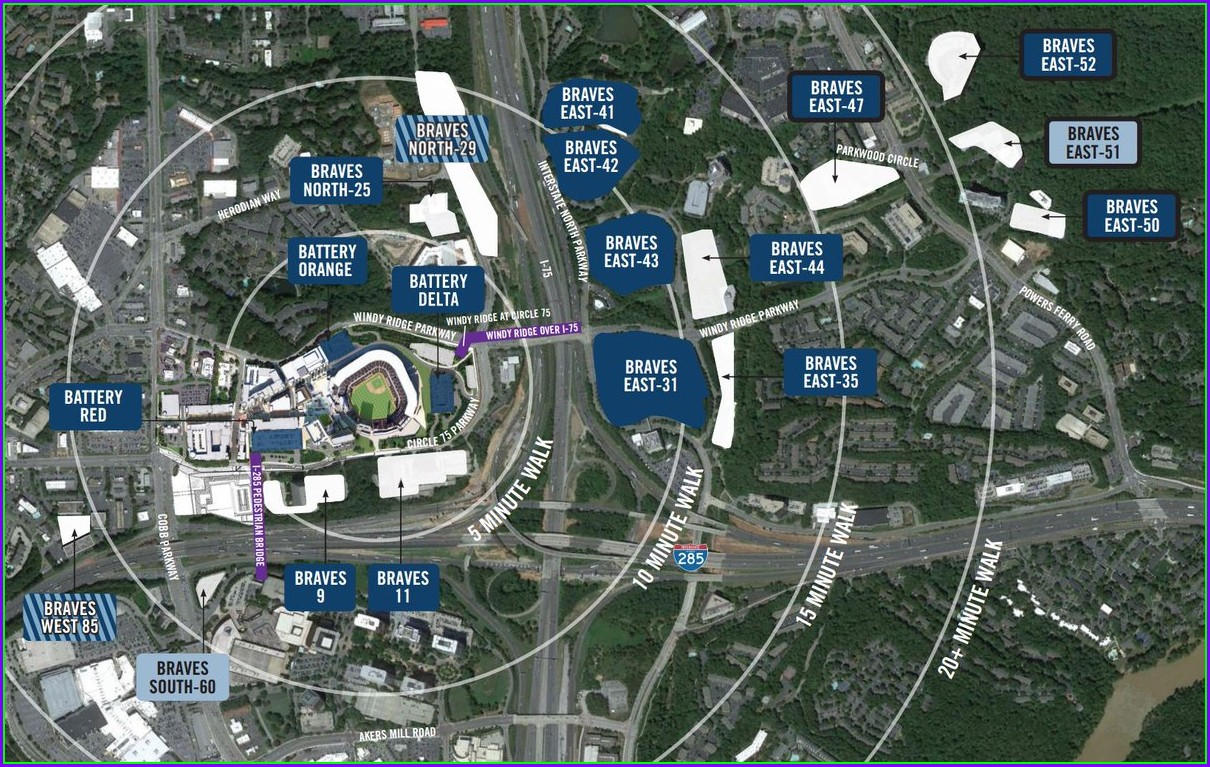 Suntrust Parking Lot Map