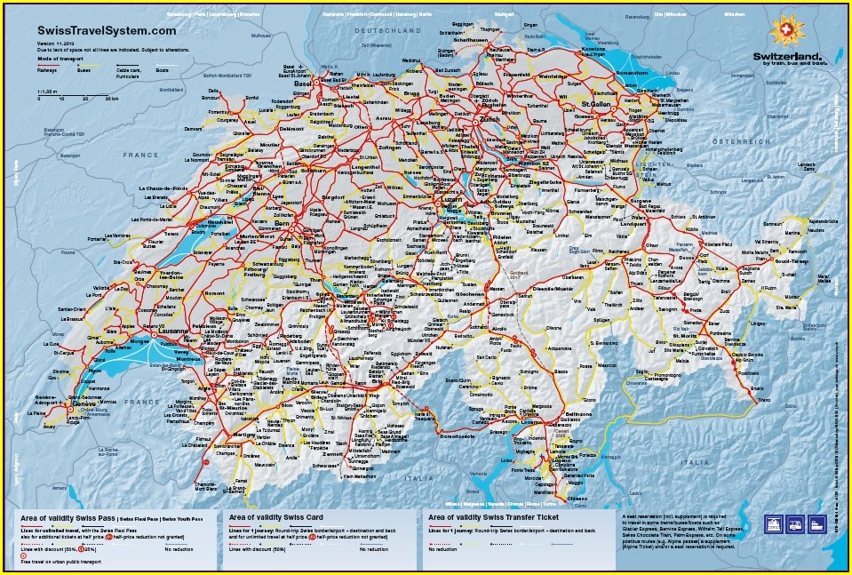 Swiss Travel Pass Map 2020