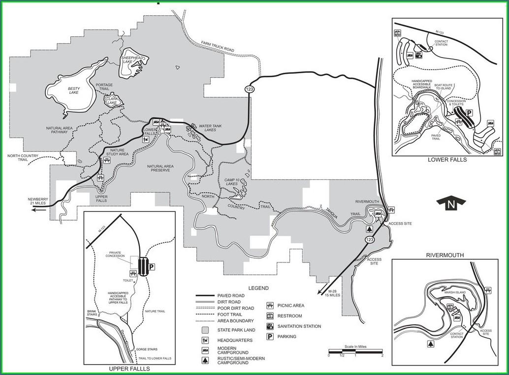 Tahquamenon Falls State Park Site Map