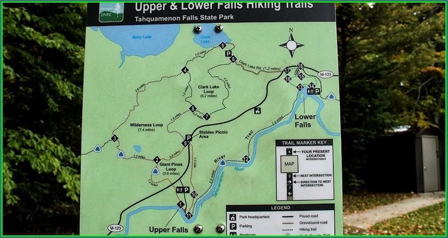 Tahquamenon Falls State Park Trail Map