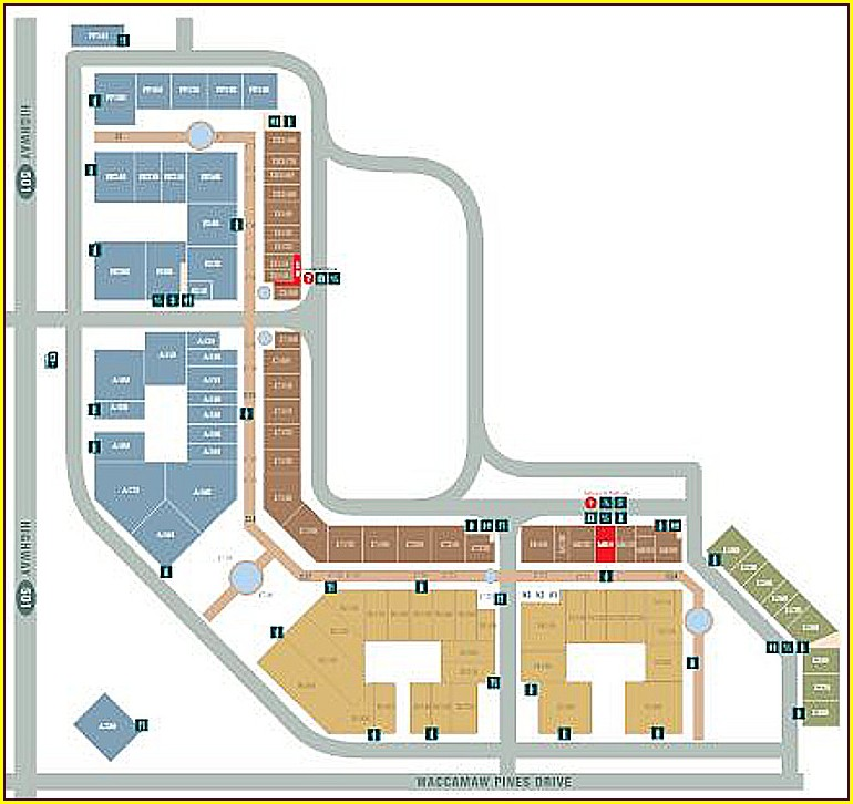 Tanger Outlets North Myrtle Beach Map