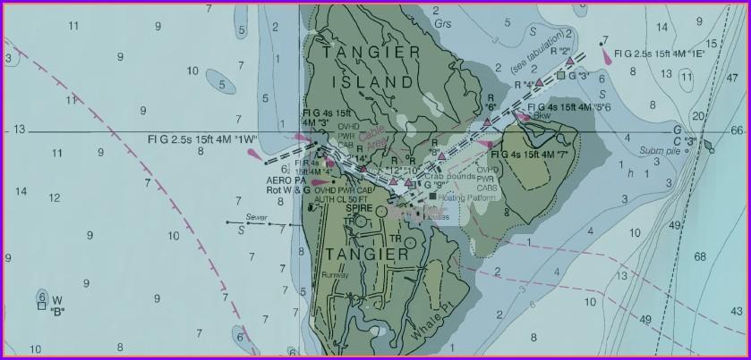 Tangier Island Map 1850